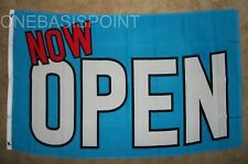 3'x5' NOW OPEN FLAG STORE OUTDOOR BANNER BUSINESS ADVERTISING SIGN SALE BLUE 3X5