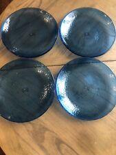 Pottery Barn Fresca Acrylic Plates Blue Set Of 4 Dinner Plates 11 Inch