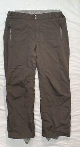 Columbia Omni-Tech Brown Lined Snowboard Ski Snow Pants Mens XL