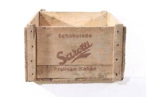 alte Kiste Holz Sarotti Werbung Reklame Sammler Holzkiste old vintage