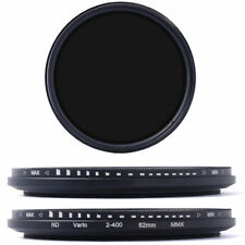 62mm Slim adjustable Variable ND Filter-ND2 - ND400 inc. carry case.