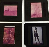 Lot Of 4 Vintage Color Slides Works Of Art Monet Degas Blanc