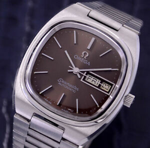 VINTAGE OMEGA SEAMASTER AUTOMATIC CAL1020 DAY&DATE BROWN DIAL MEN'S WATCH