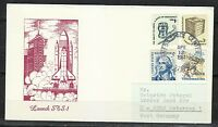 United States 1981 Apr 12 space cover Shuttle STS-1 Columbia Airmail to Germany