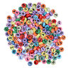 200pcs Loose Beads Mix A-Z Alphabet Letters Round Colorful Spacer DIY 4*7mm