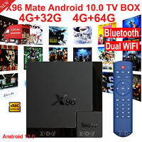 X96 Mate Android 10.0 Quad Core 3D 4K H.265 HDMI USB TV BOX Media Player WIFI