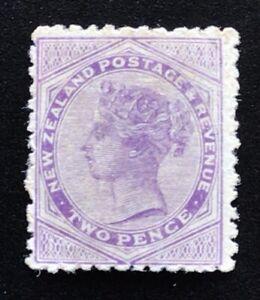New Zealand Stamp 1882 SSF 2d Purple - Mint Hinged