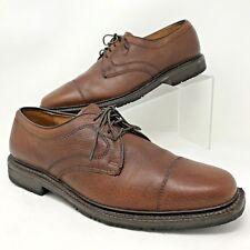 Allen Edmonds Becker Mens Pebbled Brown Leather Cap Toe Tie Oxford Shoe 8 1/2 D