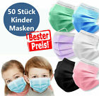 50Pc Disposable Child Kids Face Masks Children's Surgical Mask Protective 3Layer
