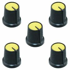 5 X Amarillo 6mm puntero Potenciómetro Perilla de control