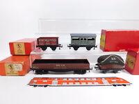 CS414-0,5# 4x TTR/Trix Twin Railway H0/DC/3L Güterwagen: 607+627+660+675, sg+OVP