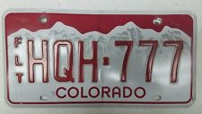 Expired COLORADO Fleet License Plate HQH-777