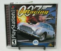 007 RACING GAME FOR PLAYSTATION PS1, GAME DISC, CASE, MANUAL, BE BOND