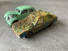 Majorette VW K70 Beetle weathered Diorama Scrapyard Model Cars Lot