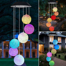 Solar Lamp Color Changing Led Wind Chimes Outdoor Home Garden Decor