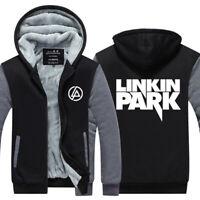 Linkin Park Hoodie Sweatshirt Zipper Sweater Fleece Winter Warm Coat Jacket Top