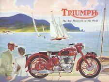 Triumph Motorcycle Brochure 1950 Thunderbird T100 Speed Twin 3T 5T Original item