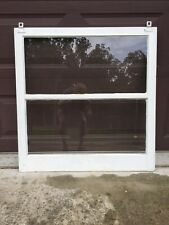 "Antique Vintage Wood Window Rustic Farmhouse Wedding Decor Art 35""x34"", 2 Pane"