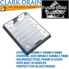Recessed Manhole Cover 600mm x 450mm X 65mm 790R / 65 Block Paving Clark Drain