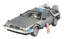 ELITE BACK TO THE FUTURE TIME MACHINE DELOREAN W/EXTRAS 1/18 BY HOTWHEELS BCJ97