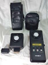 Minolta Color meter II + Flash Color Receptor + Cases In Excellent Condition