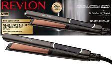Professional Hair Straighteners Ceramic Copper Straightening Irons LCD Flat £79!