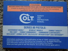 New listing Original Colt Double Action Revolvers Factory Safety And Instruction Manual 1997