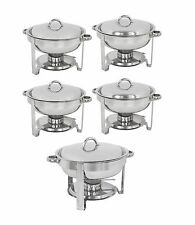 5 Pack 5 Quart Chafing Dish Stainless Steel Tray Buffet Catering Chafers
