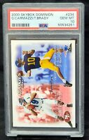 2000 Skybox Future Hall of Famer TOM BRADY Rookie Football Card PSA 10 GEM MINT