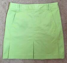 Ann Taylor LOFT Size 6 Lime Green Skirt Dress Golf Side Zipper Front Pockets