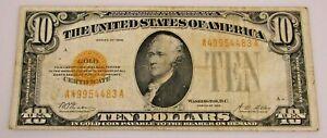 1928 $10 Gold Certificate U.S. NR