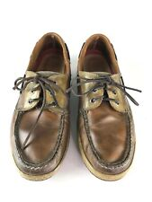 Sperry Top Sider 0799023 Billfish 3-Eye Tan Beige Leather Boat Shoes Men's 10 M