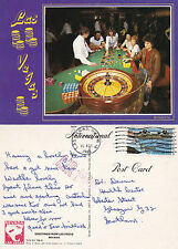1986 ROULETTE IN LAS VEGAS NEVADA UNITED STATES COLOUR POSTCARD