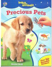 BABY ANIMALS 'PRECIOUS PETS' STICKER BOOK 50+ REUSABLE STICKERS NEW!