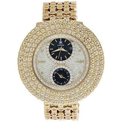 Herren IceTime Joe Rodeo Jojo 3 Reihen Eigener Blende 4 Diamant Armbanduhr