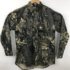 New WestArk Mens Hunting Shirt Size M Mossy Oak Break up Camo Long Sleeve Vtg