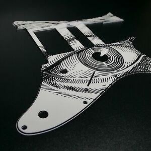 Ibanez Custom Graphic Pickguard RG Jem7 Jem Jr Vintage Eyes by Stormguitar