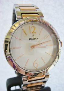 New Genuine Ladies FESTINA Watch quartz Rose Gold Steel F16937/2