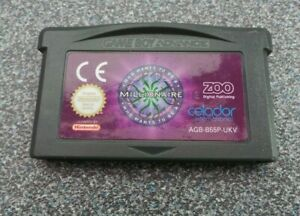 WHO WANTS TO BE A MILLIONAIRE GAMEBOY ADVANCE
