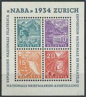 SCHWEIZ 1934 Block 1 Haftstelle/Falz (106819)
