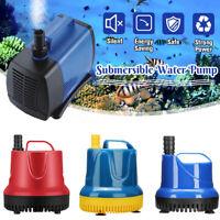 🔥 220-240V 300-3800L/H Submersible Water Pump Aquarium Fish Pond Tank  ∏