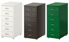 6 Drawer Metal Home Office Filing Drawer Unit on Castors Cabinet HELMER,5 Colors