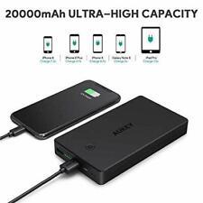 Batterie Externe 20000mAh AUKEY Portable Tab 2 Ports Entrée USB Iphone Universel