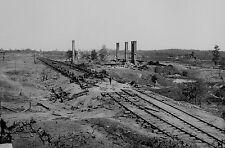 1864 Confederate Ammunition Train Ruins Photo Civil War General John Bell Hood