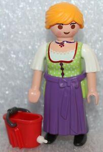 "Playmobil Citywelt Family Fun "" Farmer Girl IN Green """