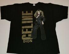 Vintage Anvil Celine Dion World Tour 2008 Black Concert T-Shirt Size 2Xl Xxl