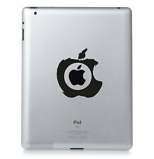 Logo Apple Brosse IPAD Mac Macbook Sticker Vinyle Décalcomanie. Custom Couleur