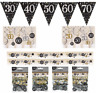 Sparkles Bunting Flags Confetti Swirls Birthday Party Age 18 21 30 40 50 60 70