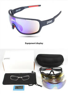 Cycling Sunglasses with 5 Lenses Driving Sports Glasses