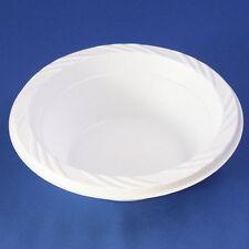 100 x 12oz /34cl  White Plastic Soup Bowls Disposable LightWeight Party & Buffet